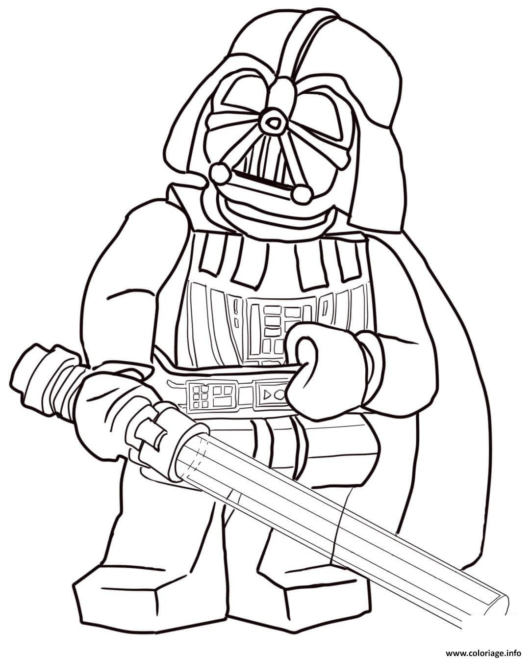 Coloriage Lego Star Wars Darth Vader Jecoloriecom