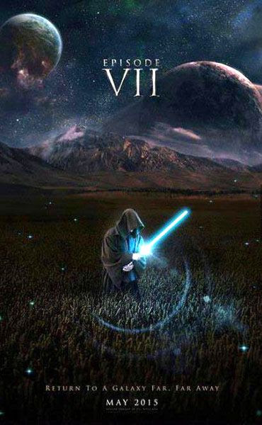 A fan-made poster for STAR WARS: EPISODE VII.