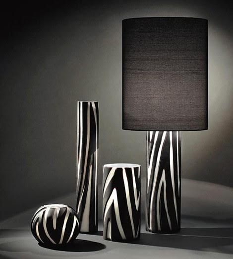 Modern Murano Glass Lamp from Formia – Vivarini animal look lamps Giraffe and Zebra