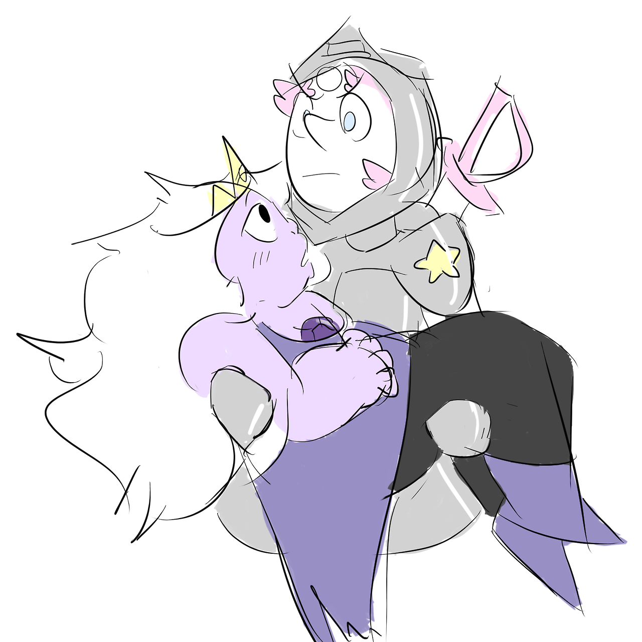 day 5 - the princess and the knight pearlmethyst week organized by @fuckyeahpearlmethyst!