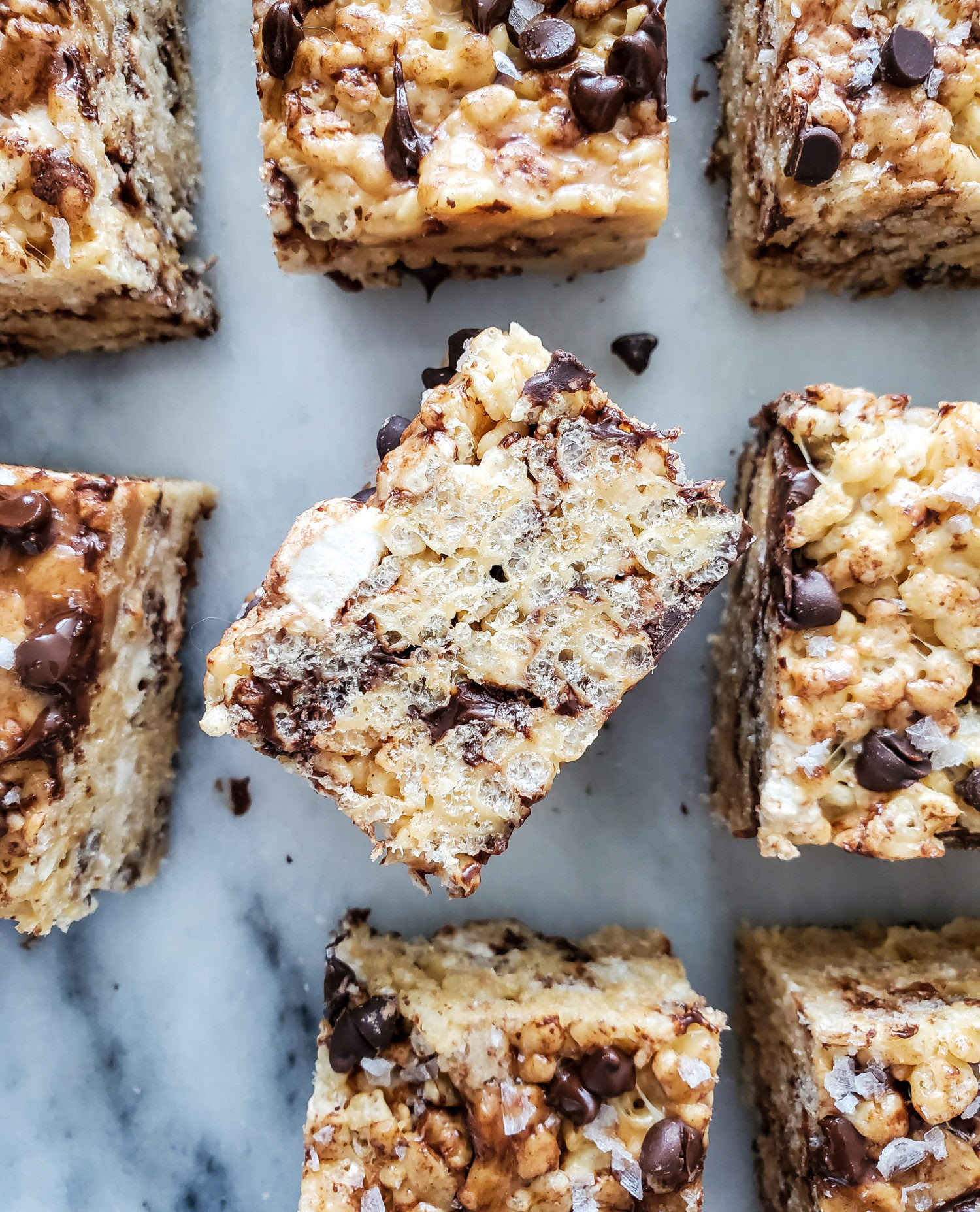 Peanut Butter and Chocolate Chip Rice Crispy Squares   The ...