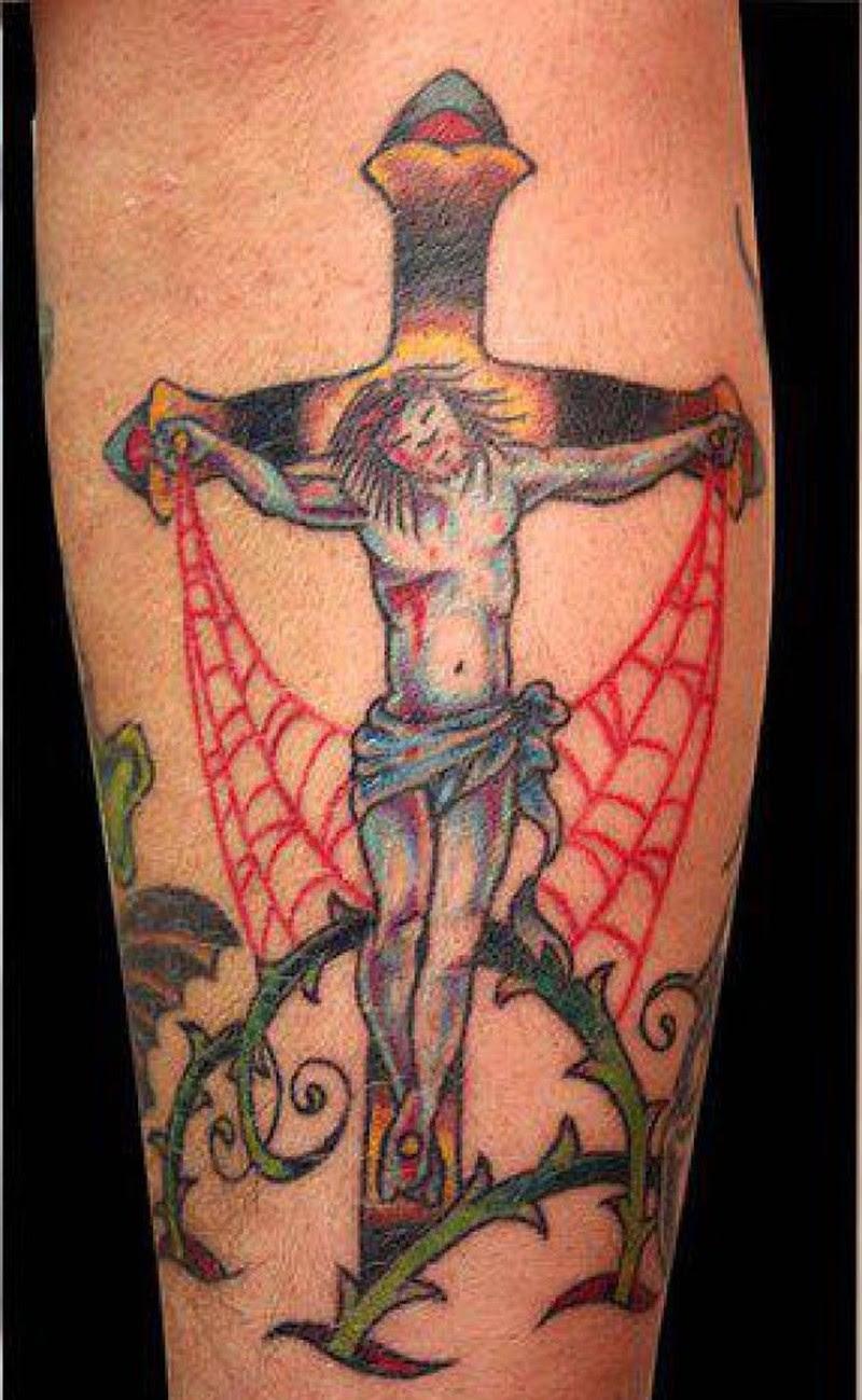 Traditional Jesus Cross Tattoo Design Tattoos Book 65000