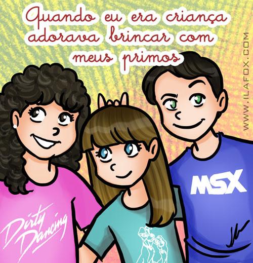 Recordar é viver, Adorava brincar com meus primos, ilustração by ila fox