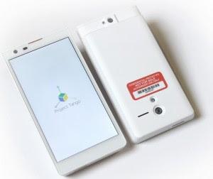 Un teléfono Proyecto Tango de Google