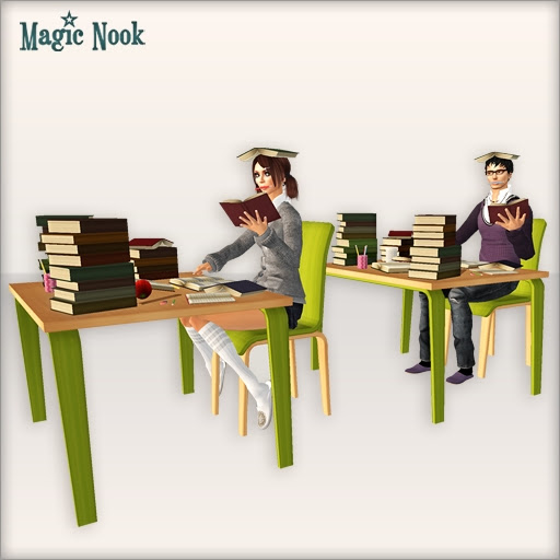 [MAGIC NOOK] Study Hard! /FREEBIE/ - Male and female sit
