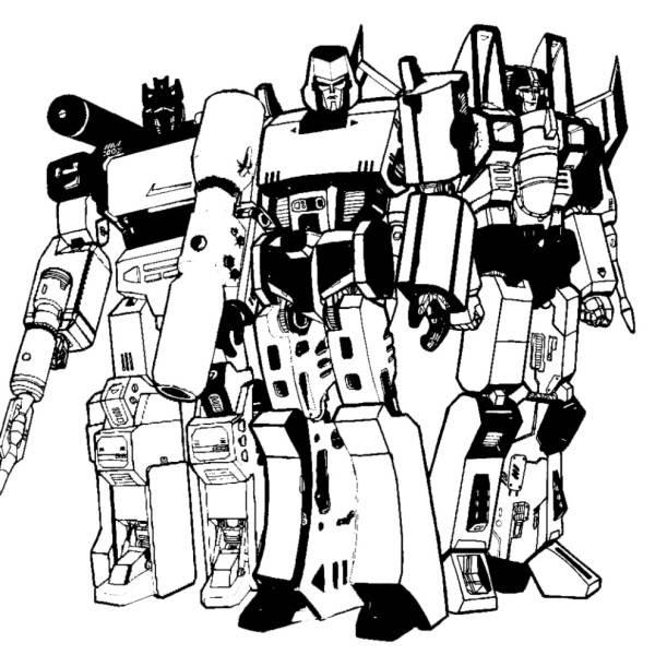 Disegno Di Transformers Da Colorare Per Bambini
