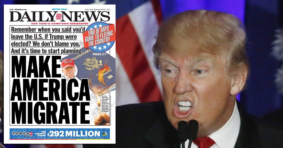 New York Daily News takes one more jab at Trump