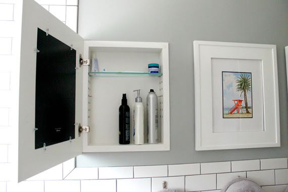 Door Frame Medicine Cabinet With Picture Frame Door