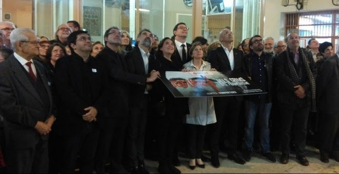 Colau, Forcadell y entidades por la memoria se comprometen a acabar con la impunidad del franquismo.- LAURA SAFONT