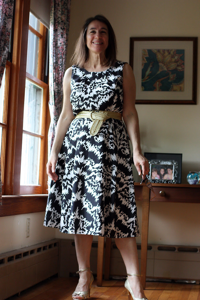Neiman Marcus black and white print