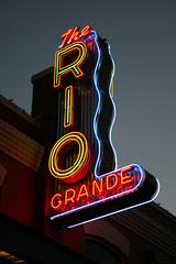 the rio grande neon sign