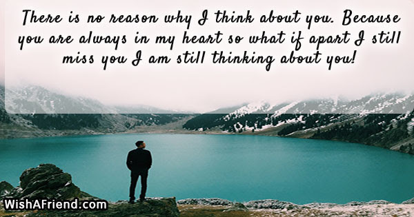 There Is No Reason Why I Thinking Of You Message For Her