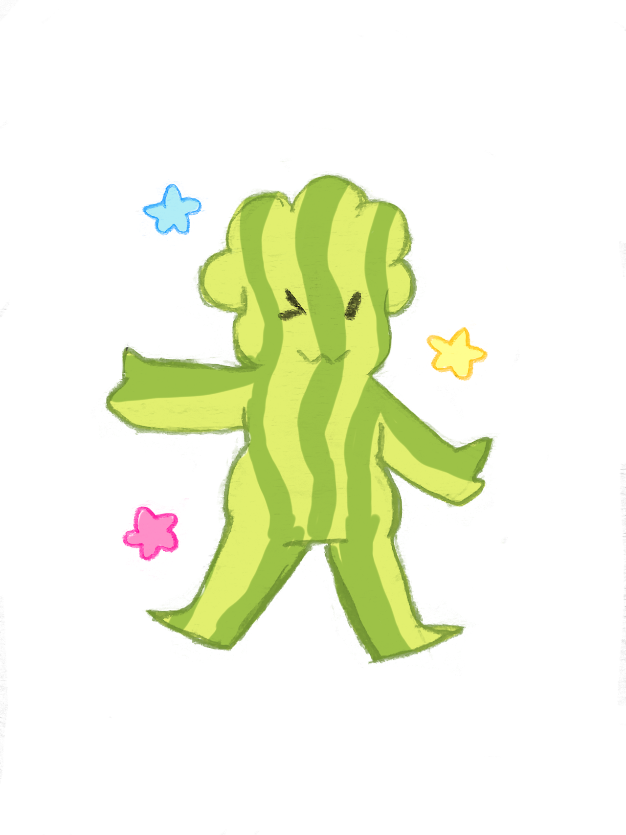 My Watermel-son! Made a transparent one too as like a sticker or something😄🍉❤