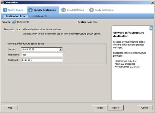 Vmware Converter linux lvm