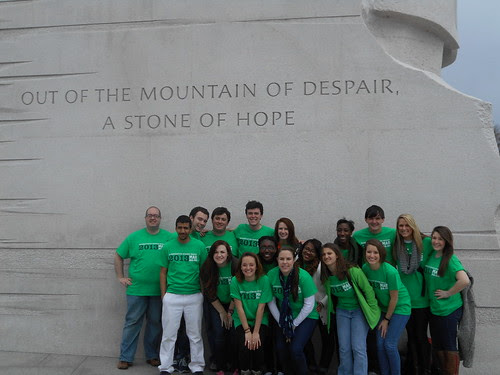 Our Team at the Martin Luther King, Jr. Memorial
