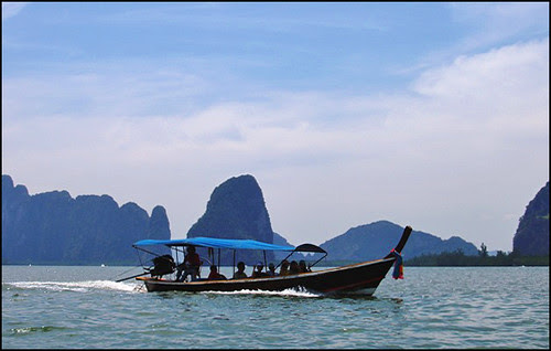 Longtail boat in Phang Nga Bay