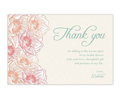 Beautiful bridal shower Thank you Card   party & event