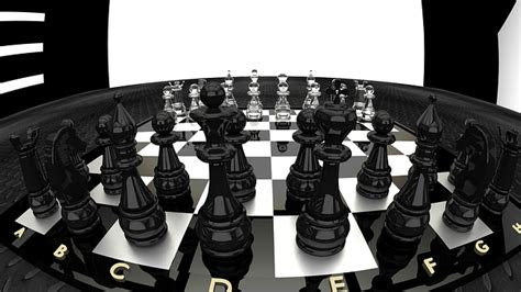 chessboard render game  image  pixabay