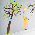 Kids Bedroom, Cool Wall Sticker For Kids Rooms Ideas : Creative ...