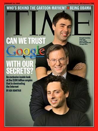 trio google, google portada Time