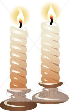Two Candles Clipart   Wedding Candles Clipart