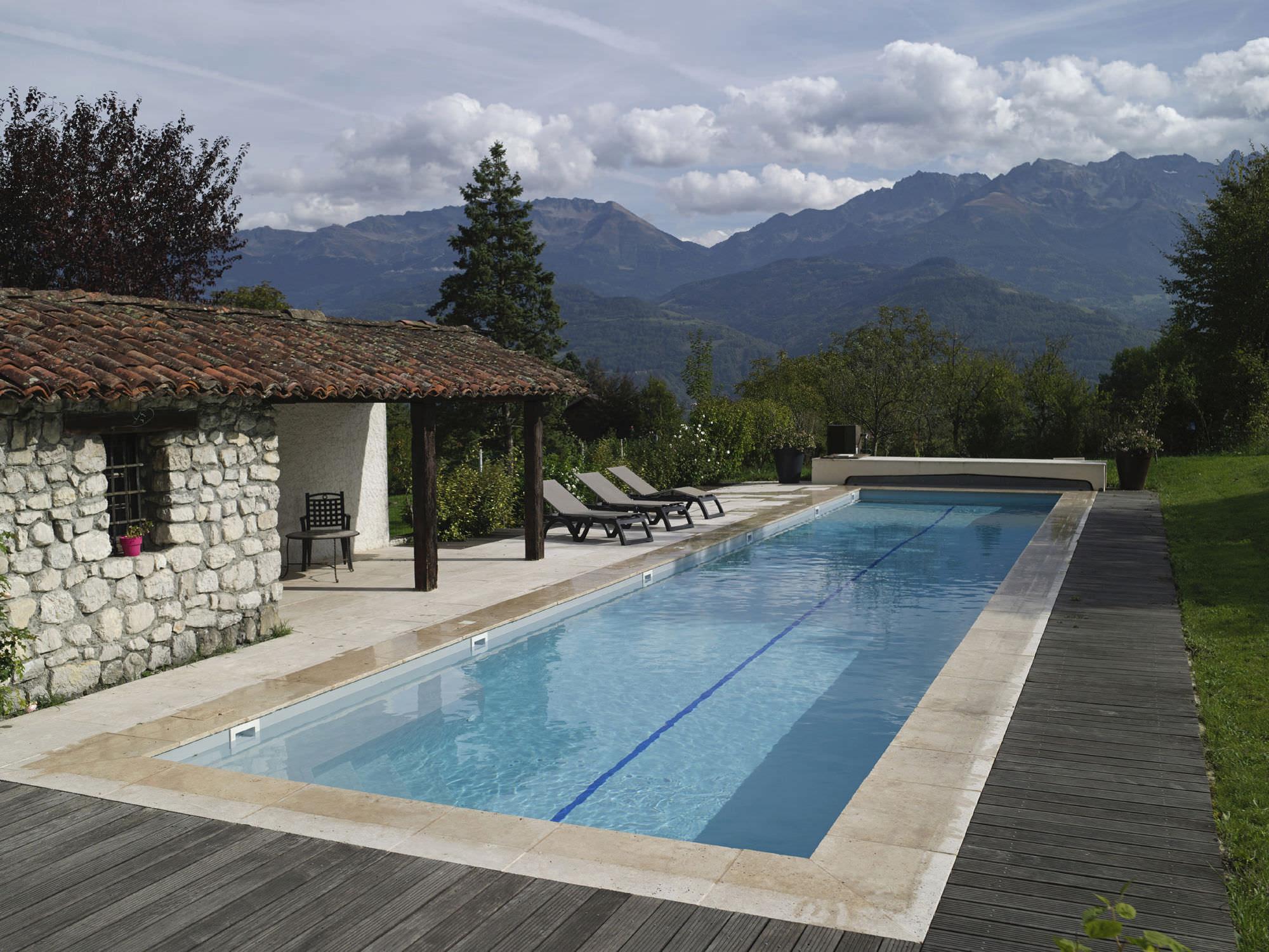 Inground concrete swimming pool (lap pool) - PISCINES CARRE BLEU