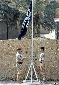 Flag lowering in Basra