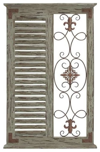Classic Pine Wood Metal Wall Panel and Parallel Slats of Wood - Rustic - Wall Sculptures - by ...