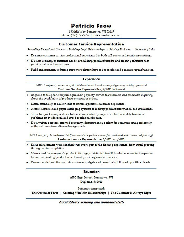 31 Free Customer Service Resume Examples  Free Template Downloads