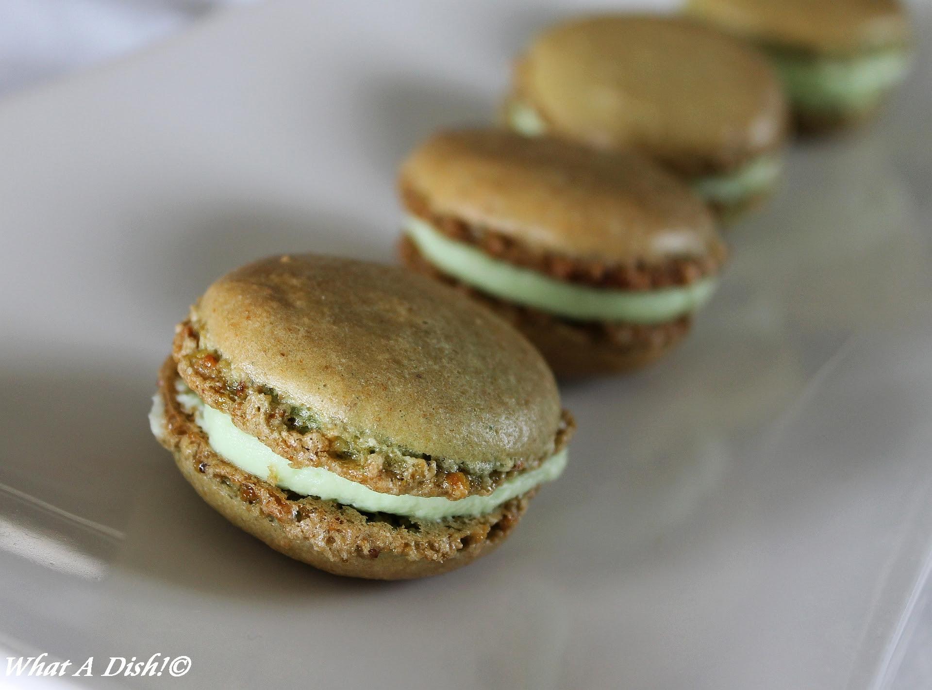 Pistachio & White Chocolate Macarons