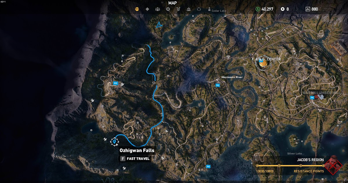 Far Cry 5 Shrine Map World Map Atlas