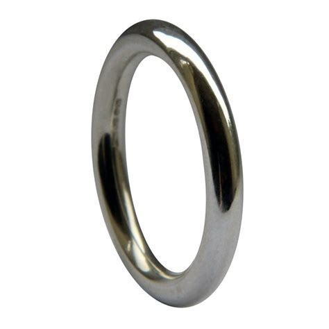 3mm 950 Platinum Halo Round Profile Wedding Rings Heavy UK