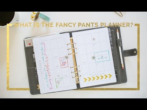 """What is """"Fancy Pants""""? Start Planner Overview - YouTube ..."""