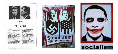 Kennedy, Bush, Obama