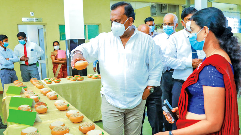 Agriculture Minister Mahindananda Aluthgamage at the inauguration of a workshop. Director General of Agriculture Dr.W.M.Weerakoon was present.