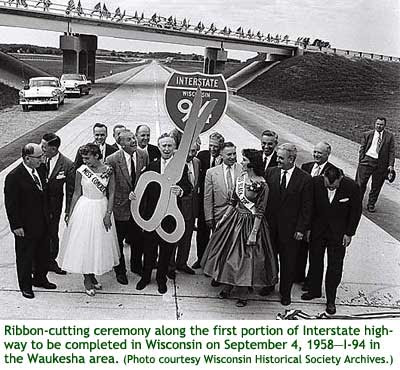 I-94 Ribbon Cutting Waukesha 1958