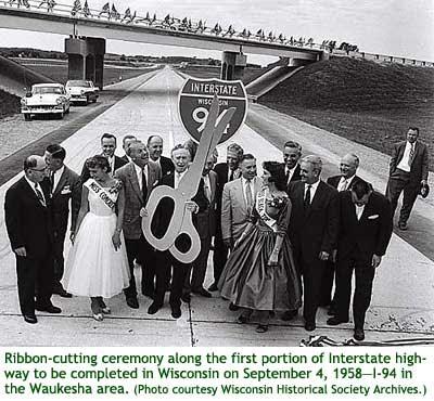 I-94 Ribbon Cutting Waukesha 1958