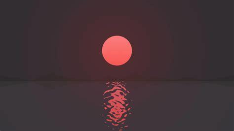 ripple water minimal sunset hd  wallpaper