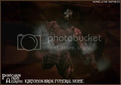 Postcards of Azeroth: Kirtonos Bros. Funeral Home, by Rioriel of theshatar.eu