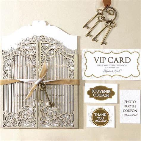 Laser Cut Wedding Gate Wedding Invitation by Signature