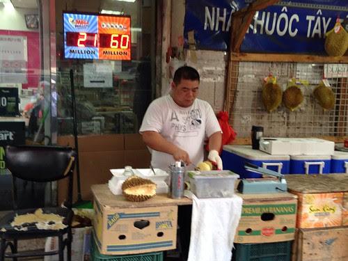 Preparing durian (fruit), LES/Chinatown