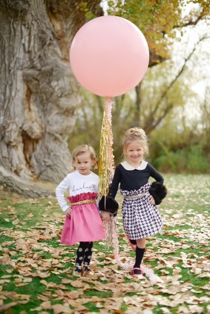 Pink Silk Ruffle Waist Skirt
