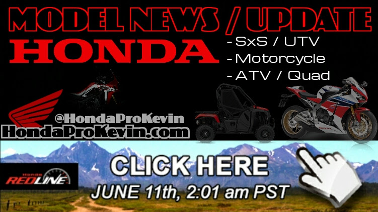 ... Honda SxS / UTV - Motorcycle - ATV - Model Lineup Announcement | Honda
