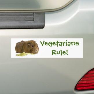 Vegetarians Rule! bumpersticker