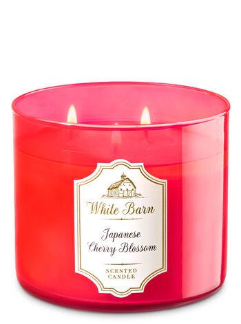Japanese Cherry Blossom 3-Wick Candle - White Barn | Bath ...