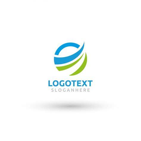 circular wave logo template vector