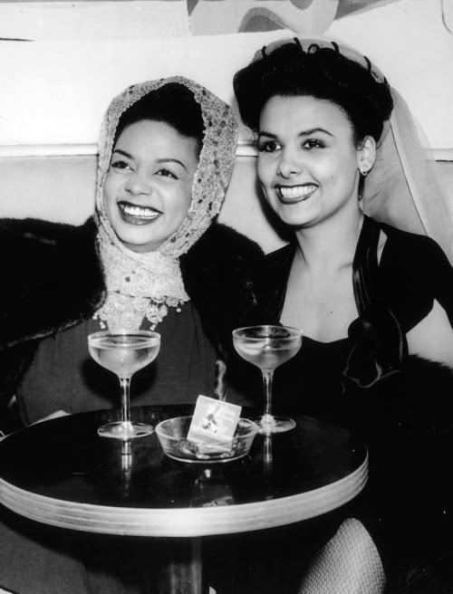 vintagegal:  Hazel Scott and Lena Horne c. 1940s