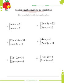Solving Systems Of Equations By Elimination Or By Substitution