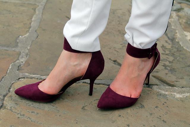 Zara burgundy heels