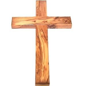 Amazon.com - Olive Wood Cross - Simple Christian Wall Crosses